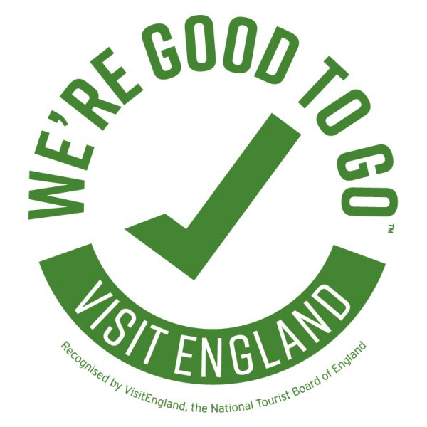 We've been awarded the 'We're Good To Go' mark by Visit England.